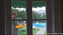 Hot looking guy bangs granny neighbour Preview
