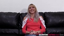Amateur Sunny interviewed riding hard dick before creampie