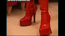 Amateur girl with red boots tied up by boyfriend's Thumb