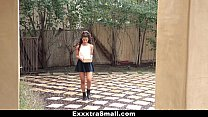 ExxxtraSmall - Sexy Petite Latina Fucks Neighbor video