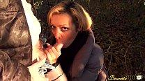 Baise en exteu0301rieur pour Karina, une milf beure... Thumbnail