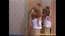 Blond slut licked and taken from behind