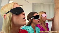 Blindfolded cfnm babe Natalia Starr bj - Download mp4 XXX porn videos