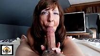 Sexy Milf Marie Large Cock Blowjob Big Cumshot