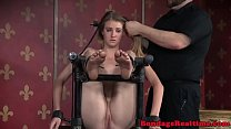 Asphyxiated BDSM Sub Ass Caned On All Four