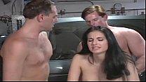 beautiful girl fucked by 2 mechanic porn image