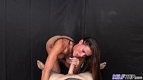www sxe cmo: athletic brunette milf fucked by fat cock thumbnail
