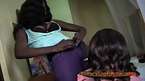 African lesbians having sexy action in bedroom