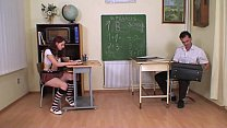 Strict teacher punishes and bangs a schoolgirl