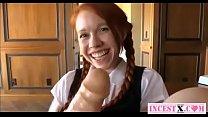 redhead schoolgirl masturbates with big toys - ...