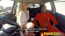 Fake Driving School Big black cock goes deep in...