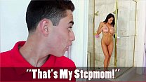 BANGBROS - Son Juan El Caballo Loco Spies On MILF Stepmom Reagan Foxx thumbnail
