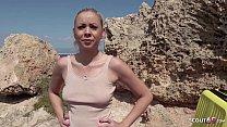 GERMAN SCOUT - Urlauberin Julia am Ballermann 6 auf Mallorca bei echtem Strassen Casting AO gefickt Vorschaubild