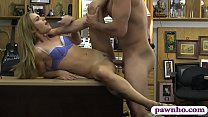 Tight woman drilled by horny pawn dude at the pawnshop preview image