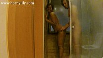 HornyLily - Showering with boyfriend's friend