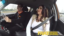 Fake Driving School busty jailbird goes on a wild ride! thumbnail