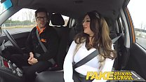 Fake Driving School busty jailbird goes on a wild ride! - 9Club.Top