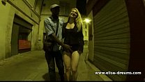 Sucking my black lover in the street