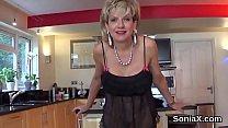 Unfaithful british mature gill ellis showcases her huge melons