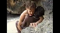 African teen gets anal fucked on the beach thumb