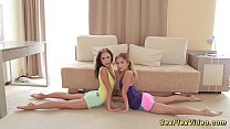 cute flexible girlfriends naked stretch thumbnail