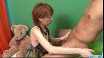 Kaoru Amamiya throats a big cock until exhaustion