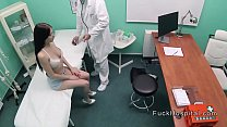 Big cock doctor recording sex with patient's Thumb