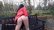 Dark mysterious Chloe Lovettes public nudity and outdoor masturbation of fit exh pornhub video
