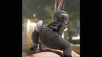 Judy Hopps returns to Zootopia to get her pussy and ass fucked hard thumbnail