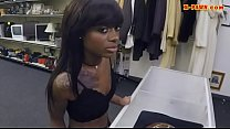 Skinny ebony babe nailed at the pawnshop's Thumb