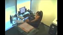 Secretary masturbating infront of spy cam