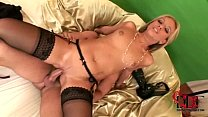Sexy blond babe Candy in hard, fast hardcore sex action preview image