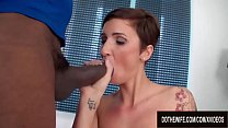 Distraught Husband Has to Watch His Wife Gabrielle Gucci Fuck a Black Man preview image