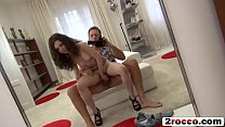 Horny Rocco fucks small tits brunette babe's pussy and ass with his huge cock Image