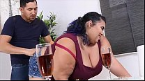 Busty Exotic BBW Charlotte Ward has Belly Butto...