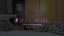 16842 Dildo ass fucking for horny brunettes - Lesbian Anal Sex preview