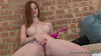 Sexy Firebush Redhead Masturbates Clit to Pussy Contractions