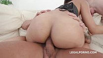 Only extreme double anal with 4 white 4 black cocks for Asian slut May Thai Image