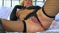 Screenshot English milf Jo zie wears her crotchless tight rotchless tights