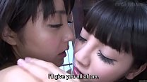 Free download video bokep Subtitled JAV lesbian teens Sayo Arimoto and Re...