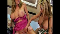 Two Slutty MILFs Banging A Lucky Stud thumbnail