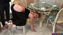 Stepmom stuck under the table - Erin Electra Thumbnail