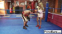 Amazing busty blonde fucks her horny boxing coach - Download mp4 XXX porn videos