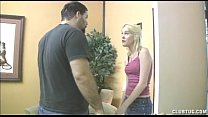 Hot Blonde Teen Jerks Off A Man