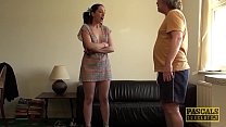 English subslut punished and facialized by rough dom image