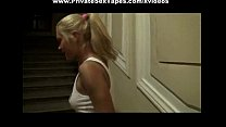 Amateur sex free scenes of blonde girl fucking in porch