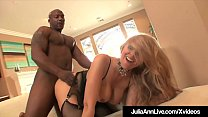 Milf Julia Ann Anal Pounded & Cummed On By 4 Big Black Cocks صورة