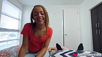 Holly Hendrix jerk and suck her step bros big cock then sat on it Preview