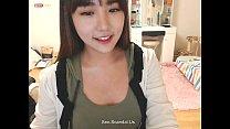 Pretty korean girl recording on camera 3 video