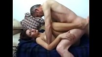 Cute wife fucked by her father-in-law (ugly alc...